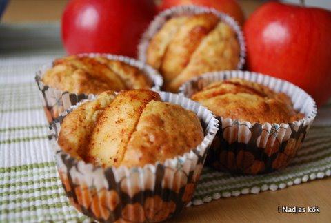 Nyttigare Äppelmuffins