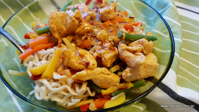 Kyckling Paneng Red Curry-smartpoints-vvsmartmat-vvtillsammans-thaimat-thai-weightwatchers-redcurry-kokosmjölk