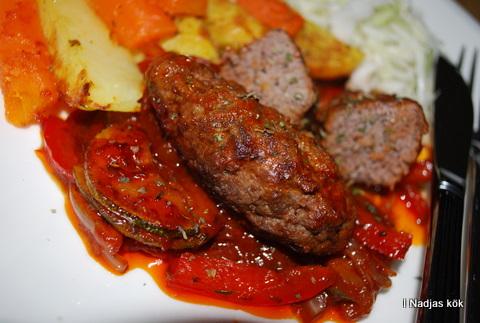 Köttfärsrullander med timjan