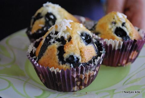 Blåbärsmuffins med kokos