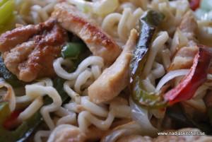Thai green curry chicken wok
