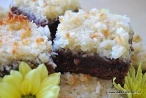 Chokladkaka med kokostäcke