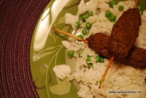 Orientaliska köttfärsspett