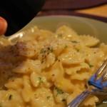 citron- och vitlöksdoftande pasta