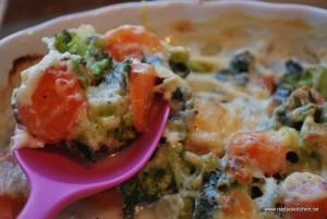 Broccoli- och morotsgratäng