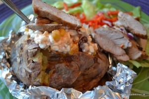 Bakad potatis med salsakeso