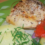 Citron- och vitlökshoki med rostade tomater