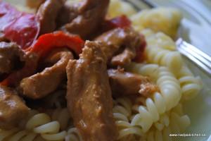 Kotlett i god paprika- och chilisås