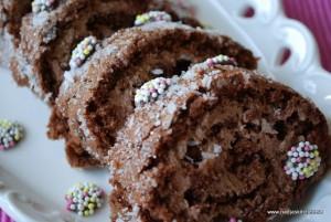 Chokladrulltårta med moccakräm