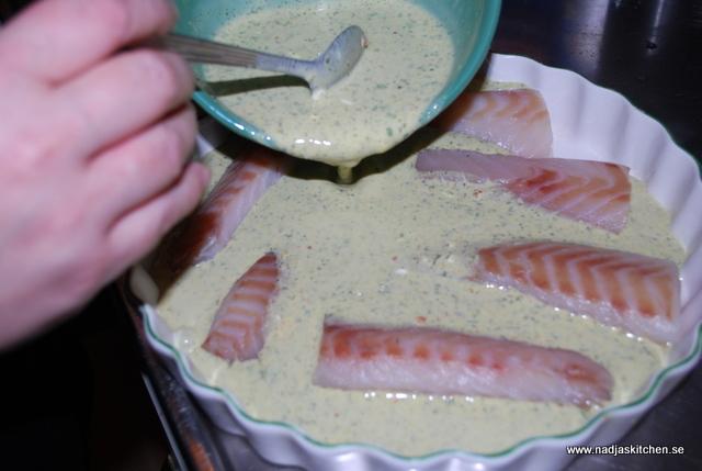 Fisk med örter, chili och gräslök