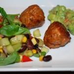 Mexikanska köttbullar med guacamole