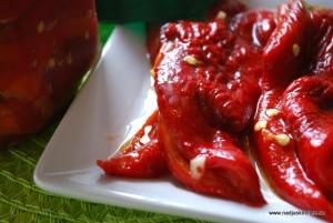 Vitlöksmarinerad paprika