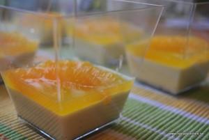 Kardemummapannacotta med apelsin