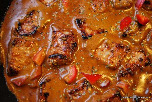 Filé i dragon och senapsås - propoints-viktväktarna-dragon-senap-vvtillsammans-middag