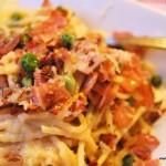 Pasta Carbonara-viktväktarna-propoints-nadjaskitchen,se-leggera,spagetti,rökt skinka, ärtor-