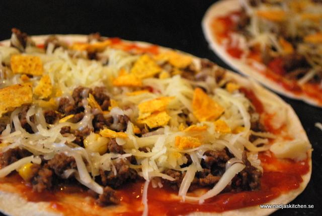 Tortillapizza med köttfärs - propoints - vvtillsammans - taco - pizza - viktväktarna