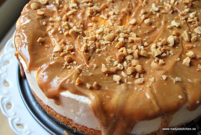 Frusen citron och kolatårta - cheesecake - dulce de leche - jordnötter - citron - propoints - vvtilsammans