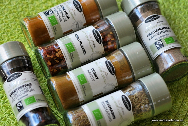 Santa Maria - ekologiska kryddor - extra fine selection of spices - kryddor - kryddblandningar