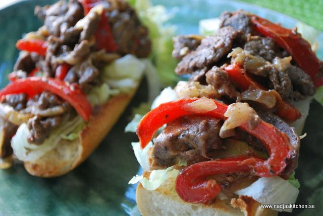 Philly Cheese Steak Sandwich-amir-mästerkock-smart skräpmat-kokbok-viktväktarna-vvtillsammans-propoints-sandwich