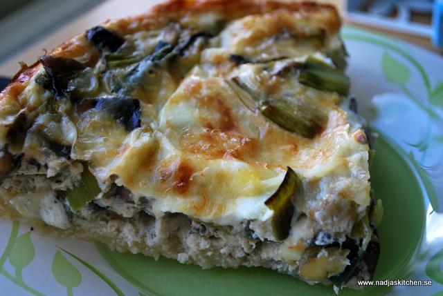Svamp och purjolökspaj-vegetariskt-propoints-viktväktarna-vvtillsammans-mittviktväktarna-