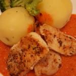 Kyckling med ajvar relishsås - viktväktarna - smartpoints -