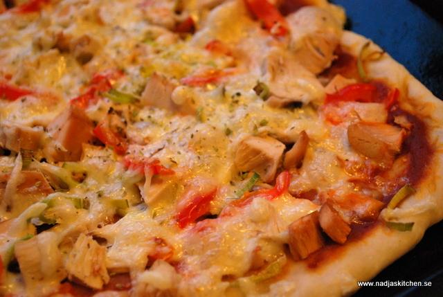 Kalkonpizza med taco, paprika och purjolök - smartpoints - wwsmartpoints - vvsmartpoints - viktväktarna