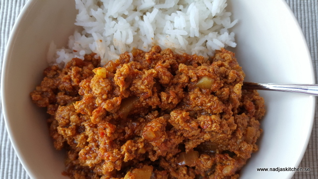 Indisk curry med quornfärs
