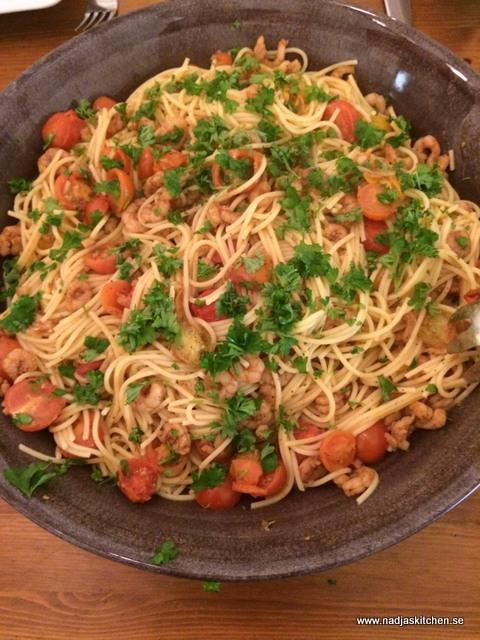 Pasta med räkor och chili-vvsmartmat-viktväktarna-weightwatcher-smartpoints-viktväktarna-vvsmartmat-pasta-räkor-chili