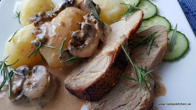 Rosmarinkryddad stek med svampsås och potatis-vvsmartmat-smartpoints-viktvätkarna-weightwatchers-rosmarin-champinjoner-sås-höstmat-
