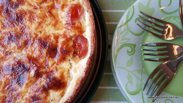 Ost- och tomatpaj-vegetariskt-mangochutney-tomat-ost-smartpoints-vvsmartmat-viktväktarna-weightwatchers-vvtillsammans